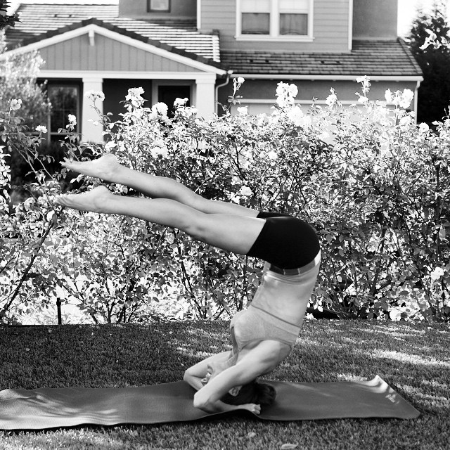 In black and white even a #fail can look good... #yoga #headstand #fitfam