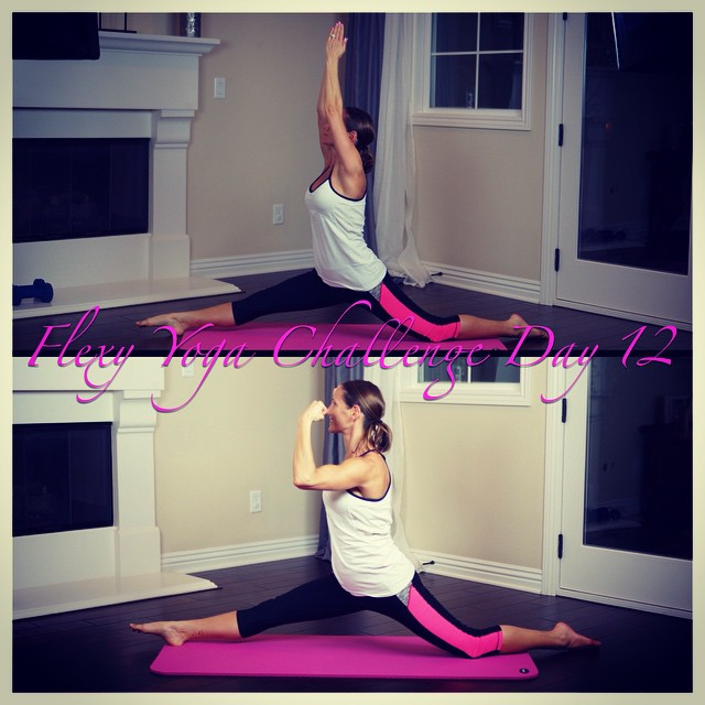 Hanumanasana | splits for #letsgetflexyin2015 yoga challenge. And my own flexed spin on the pose in honor of #flexfriday