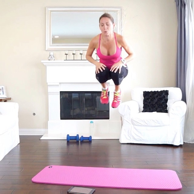 "Move of the week:  Jump Tuck Burpees!  Most of us have a love-hate relationship with burpees. And by ""love-hate"