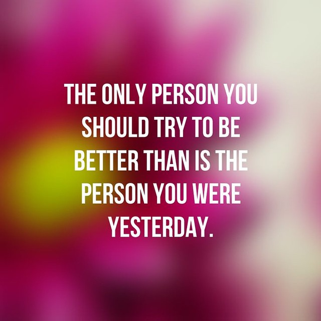 "MORNING MOTIVATION: The only person we need to be better than is the person we were yesterday. Competing against others can be motivating for sure, but a more effective (and happiness boosting) desire is to be better than ourselves. Using the accomplishments of others can be great inspiration and motivation, but we should keep the focus on the real competition - OURSELF. Let's strive to be the best version of ourselves, not of someone else. We should set goals to ""compete"" against ourself to drive ourself towards our own greatness, and not create unnecessary competition against others. Strip away any self-imposed limitations and reach for what we want. Let's go get it!  #fit #fitfam #fitspo #fatloss #fitness #FitForce #fitgirls #fitmamma #fitmommy #fitjourney #fitnessjourney #fitnesslifestyle #workout #weightloss #weightlossjourney #healthy #homeworkout #healthylifestyle #bodyafterbaby #happy #motivation #motivationalquotes #fitnessmotivation #girlswithmuscle #fitnessgoals #goals #beyourself"