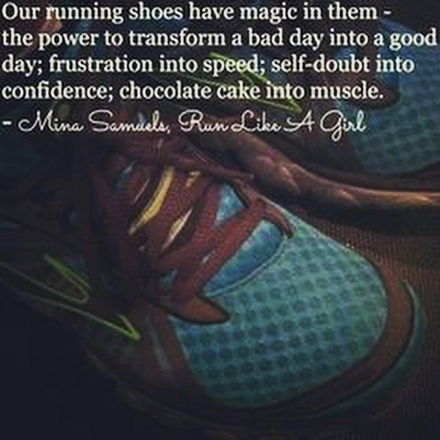 Our running shoes have powerful magic indeed! My day is always improved after a session in my runners!  #fit #fitfam #fitspo #fatloss #fitgirl #fitness #FitForce #fitgirls #fitmamma #fitmommy #fitjourney #fitnessgoals #fitnessquotes #fitnessjourney #fitnesslifestyle #fitnessmotivation #mondaymotivation #motivation #bodyafterbaby #burningcalories #run #tabata #hiit #cardio #workout #weightloss #workoutvideo #weightlossjourney #healthylifestyle