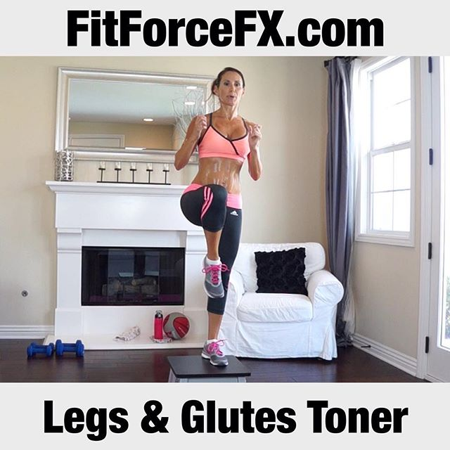 "I'm back from my vacation and a new workout is up! ""Legs & Glutes Toner"" is a box workout. A plyo box, or step can really amp up your workout by requiring you to get up higher or down deeper. Plyometric training is also a great way to not only build strength, but also great for athletes who want to build explosive power and speed. Not only are your muscles working harder, your heart is too, giving you a great cardiovascular workout with mega fat-burning. If you don't have a plyo platform, you can use a stable chair pushed against the wall, or a park bench.  Follow me on YouTube and Facebook (link in bio) for free workouts, fitness & health tips, motivation & healthy recipes. Have fun with fitness!  FitForceFX Train. Nourish. Transform.  #fit #fitfam #fitspo #fatburn #fatloss #fitgirl #fitness #fitmamma #fitmommy #fitforcefx #fitjourney #fitnessgoals #freeworkouts #fitnessjourney #workout #weightloss #workoutvideo #weightlossjourney #plyo #bikiniready #bodyafterbaby #strength #hiit #healthylifestyle #homeworkout #abs #sweaty"