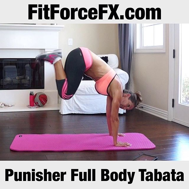 "A new workout is up and I'm excited to say that this is my 100th video! So, what better workout to celebrate this milestone with than an intense full body Tabata named, ""Punisher"". ;-) I hope you like it! Thanks for working out with me! 💕🌟 Send me your workout check-ins as I love to see how hard all you awesome people are working!💪💦 Follow me on YouTube and Facebook for workouts, fitness & health tips, motivation, & healthy recipes. 💪 Duds: 👚 @kyodanactivewear 👖@adidaswomen 👟 @nike  fitfam #fit #fitspo #fitgirl #fitness #fitmamma #fitmommy #fitforcefx #fitjourney #fitnessgoals #freeworkouts #fitnessjourney #workout #weightloss #workoutvideo #weightlossjourney #bodyafterbaby #bikiniready #bodyweightexercises #cardio #hiit #tabata #calorieburn #fatburn #healthylifestyle #sweat #sixpack #strongereveryday #itallstartshere"