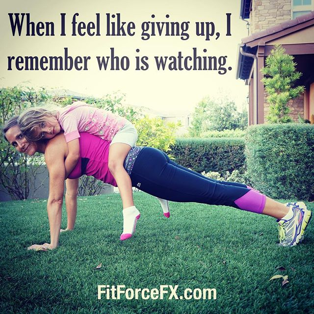 Little eyes are always watching. Children may not open their ears to your advice but they will open their eyes to your example.  Free workouts on my YouTube channel.  Train. Nourish. Transform. FitForceFX  #fit #fitfam #family #fitspo #fatburn #fatburn #fatloss #fitgirl #fitness #fitmamma #fitmommy #fitjourney #fitnessgoals #freeworkouts #fitnessaddict #fitnessjourney #workout #weightloss #workoutvideo #motivation #weightlossjourney #plank #sixpack #strength #bikiniready #bodyafterbaby #bodyweightexercises #goals #homeworkout #noexcuses
