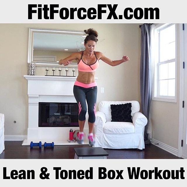 A new workout is up and it's a total body fat-incinerating, muscle-building box workout! If you don't have a plyo platform, you can use a stable chair pushed against the wall, or a park bench. By adding a plyo platform, you can make just about any move more heart-pumping or hard-core. Each rep forces your body to recruit more muscles to either catch air or sink lower into exercises like squats! Workout up on my YouTube and FB page (link in bio). Follow me on YouTube and Facebook for free workouts, fitness & health tips, motivation, & healthy recipes.  FitForceFX Train. Nourish. Transform.  #fit #fitfam #fitspo #fatburn #fatloss #fitgirl #fitness #fitforcefx #fitmamma #fitmommy #fitjourney #fitnessgoals #freeworkouts #fitnessjourney #plyo #plyobox #workout #weightloss #workoutvideo #weightlossjourney #bodyafterbaby #bikiniready