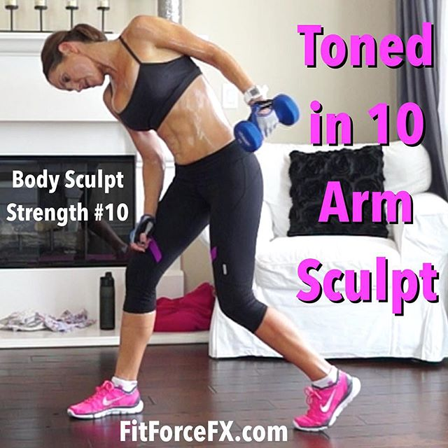 You're 10 minutes away from more defined arms! The 10th workout in the Body Sculpt Strength Series is now up and it focuses on toning the upper body. This is a quick yet effective and efficient upper body workout. Do one or two rounds twice per week in combination with HIIT for fat burning and you will see results!  Subscribe (free) so we can workout together! 💪Link in bio. 💪 Be sure to check-in and say