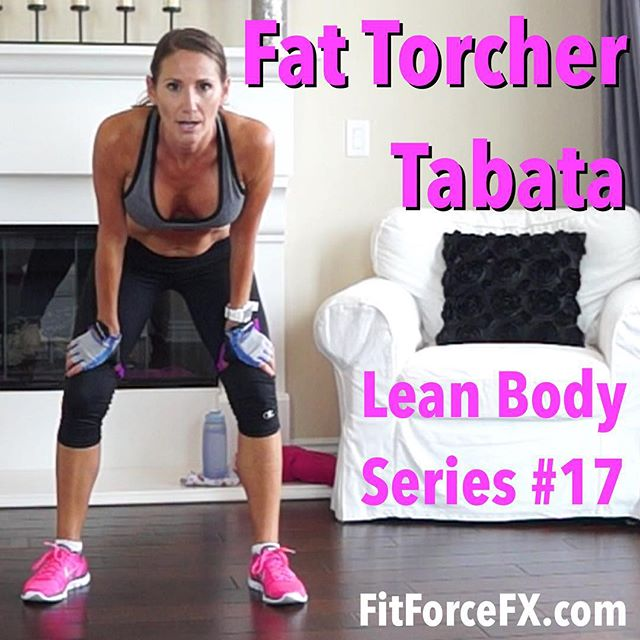 Fat Torcher Tabata is the 17th workout in the Lean Body Series and it's a CRAZY calorie burn with a high after-burn effect! This is fun intense bodyweight training! You don't need any equipment, except for a hard chair or bench to do the chair knee tuck ab-work. Or, you can modify on the ground by doing leg raises instead. We will be doing 4 rounds of Tabata, with the first round being kickboxing moves, the second round being all Burpees, the third round being full body plank cardio, and the fourth round will be abs & upper body. This is a super fun one! All levels can do this, just go at your own max pace and get as many reps in as you can in the allotted interval. Take breaks as you need them.  Are you ready? Let's completely kill this workout and give it our all! You can find the workout on my YouTube channel (link in bio). The workouts in the Lean Body Series are for EVERYbody - men and women of all ages and fitness levels. No matter who you are, this series will get you shredded and breaking through plateaus! Repeat 1-3 times or combine with another workout from the Lean Body Series.  Don't forget to check in with me and tell me how you're doing!  Join me on YouTube and Facebook for workouts, fitness & health tips, nutrition, & healthy meal plans.  Train. Nourish. Transform.  Fit Wear: 👚@marika_clothing 👖@champion 👟 @nike  #fit #fitfam #fitmom #fitspo #fitbody #fitness #getfit #fitnessaddict #fitlife #fitgirl #fitspiration #fitnessmotivation #fitchick #fitnessjourney #igfit #fitnessfreak #stayfit #fitfluential #fitnesslifestyle #fitforlife #workout #weightloss #workoutvideo #weightlossjourney #bodyafterbaby #cardio #hiit #tabata #sweat