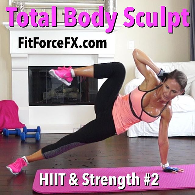 Hi everyone! Are you doing the three week HIIT & Strength challenge with me?! Workouts will be released Mondays, Wednesdays, and Fridays, but you can do them whatever days work best for you as long as you do all three of them each week. Workout #2 is up and it's a total body sculpt! I'll be switching up formats for each workout but they will all have three things in common: (1) they will have both a HIIT/Tabata segment and a strength segment, (2) they will be 30-60 mins long, and (3) they will kick your ass (I hope)! I want you to really push yourself on these workouts. Challenge yourself to give it your all! Oh…and one other vitally important thing...I want you to have fun!!! :-) Don't forget to check in with me on Facebook, Instagram, and YouTube and tell me how you're doing!  This series is designed to shred fat, define muscle, and improve your endurance and stamina. I want you to push yourself for the duration of each workout. Remember that you get OUT what you put IN, and you are stronger than you think. Challenge yourself and you will see results with this! Follow along with the Fitness As A Lifestyle Challenges, given each week in my Fit Hits videos, to incorporate healthy diet and lifestyle habits to supplement your hard work and help you reach your goals.  Join me on Facebook, Pinterest and YouTube (link in bio) for workouts, fitness & health tips, motivation, & healthy meal planning. 🌟Train. Nourish. Transform.🌟 Fit Wear: 👚@kyodanactive 👖@rbxactive 👟@nike  #fit #fitfam #fitmom #fitspo #fitbody #fitness #gettingfit #fitnessjourney #fitgirl #fitspiration #getfit #fitnessmotivation #fitnessfreak #fitnessaddict #fitlife #stayfit #fit #workout #weightloss #workoutvideo #weightlossjourney #hiit #fitnesschallenge #bodyafterbaby #strongereveryday