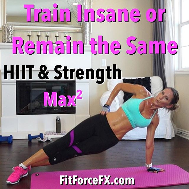 It's time for another butt kicker HIIT & Strength MAX workout! This is a MASSIVE fat burn, guys! Woohoo! Hydrate and drop that sweat! Have fun! I hope you guys are all eating your lean protein this week!  Please check in and say 'hi' on Facebook, Instagram, and here on YouTube! I love hearing from you!  Train. Nourish. Transform. Workouts, fitness & health tips, motivation, & healthy meal planning.  Fit Wear: Top @climawear Bottoms: @champion Shoes: @nike  #fit #fitfam #fitmom #fitspo #fatburn #gettingfit #fitness #fitspiration #fitnessjourney #getfit #fitnessmotivation #stayfit #fitlife #fitchick #fitnessaddict #fitfluential #fitnesslifestyle #workout #weightlossjourney #bodyafterbaby #abs #tabata #strongisthenewskinny #hiit