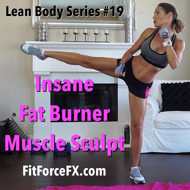 Hi everyone! I've got a new Lean Body Series workout for you today! This workout is full body with a lot of core work. The interval is a 40/40 with a fun kickboxing interval…so there are no breaks! As the title says it's an insane fat burner and muscle sculpt! You can do 1-3 rounds of this workout or if you want a 1 hour fun workout, I recommend combing with Lean Body Series #18 and Body Sculpt Strength #1. The Lean Body Series workouts are intense and if you are working at your MAX intensity, you will burn more in 1 round of this than you will in a longer less intense workout.  Don't forget to stop in and tell me how you're doing! I love hearing from you!  Join me on YouTube (link in bio), Facebook, and Pinterest for workouts, fitness & health tips, & healthy meal planning  Train. Nourish. Transform.  #nofilter #fit #fitfam #fitmom #fitspo #fatburn #fitbody #fitness #fitspiration #fitnessjourney #getfit #fitnessmotivation #fitnessfreak #fitgirl #fitlife #fitchick #fitnessaddict #fitfluential #gettingfit #fitnesschallenge #hiit #bodyafterbaby #workout #weightloss #weightlossjourney #homeworkout #abs #kickboxing