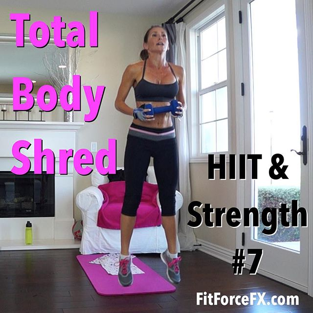 This is the last workout in the 3 week HIIT & Strength Challenge! It's another booty kicker with a fun kickboxing HIIT interval of 40/40 - no breaks, followed by a full body strength workout. You can find this workout along with over 150 others, on my YouTube channel (link in bio). Follow along with the Fitness As A Lifestyle Challenges, given each week on my Fit Hits videos, to incorporate healthy diet and lifestyle habits to supplement your hard work and help you reach your goals.  Join me on YouTube (link in bio), Facebook, and Pinterest for workouts, fitness & health tips, motivation, & healthy meal planning. Don't forget to stop and say 'hello' and tell me how the workouts are going - I love hearing from you!  Train. Nourish. Transform.  Fit Wear: 👚@marika_clothing 👖@rbxactive 👟@Nike  #fit #fitfam #fitmom #fitspo #fatburn #fitbody #fitness #fitspiration #fitnessjourney #getfit #fitnessmotivation #fitnessfreak #fitgirl #fitlife #stayfit #fitchick #fitnessaddict #fitfluential #igfit #workout #weightloss #weightlossjourney #bodyafterbaby #hiit #strongisthenewskinny #homeworkout #burpees