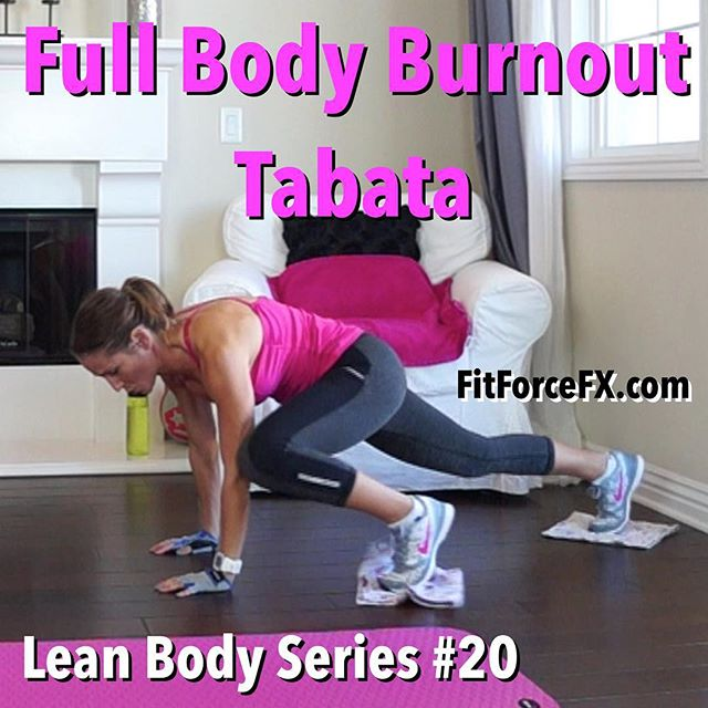This Tabata lets no muscle escape brutality! It's a total body workout with a lot of sneaky core work in every move. You can do 1-3 rounds of this workout or if you would like a 1 hour combined cardio and strength workout, I recommend combining with Lean Body Series 17 and Body Sculpt Strength 2. Have fun!  The Lean Body Series workouts are meant to be done at MAX intensity (individualized to you). If you are working at your MAX intensity, you will burn more in 1 round of this than you will in a longer less intense workout. It's time saving and super effective fat burning and muscle sculpting at it's finest!  Train. Nourish. Transform.  Join me on YouTube (link in bio), Facebook, & Pinterest for workouts, fitness & health tips, healthy recipes & meal planning.  #fit #fitfam #fitmom #fitspo #fatburn #fitbody #fitness #fitnessmotivation #getfit #fitspiration #fitnessaddict #fitlife #fitnessjourney #fitgirl #stayfit #fitnessgirl #fitfluential #igfit #workout #weightloss #bodyafterbaby #tabata #hiit #homeworkout #fatburn #cardio #strongisthenewskinny #iwillwhatiwant