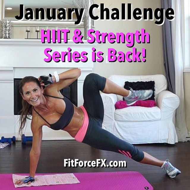 Hi everyone! I'm excited to be releasing new free workouts to the HIIT & Strength Series for a super fun and sweaty January Workout Challenge! You all really liked the series, so I'm bringing it back for January! 💦💪💕Workouts will be released on my YouTube channel Mondays and Thursdays. This series seriously shreds fat, defines muscle, and improves endurance and stamina. Follow along with the Fitness As A Lifestyle Challenges, given each week in my Fit Hits videos, to incorporate healthy diet and lifestyle habits to really hit your goals even faster.  Each workout in the HIIT & Strength series will have a HIIT (or Tabata) component combined with a strength component. The workouts in this series will range from 30-45 minutes, but you will need to plan for additional time for warm up and cool down, so plan on a 45-60 minute workout. Every third HIIT & Strength workout will be a HIIT & Strength MAX workout which will be two H&S workouts combined and are super mega body-transformers! It's going to be a fun, calorie burning, muscle sculpting good month!  Join me on YouTube (link in bio), Facebook, and Pinterest for workouts, fitness & diet tips, healthy recipes & meal planning. Don't forget to stop and say 'hello' - I love hearing from you. If there is anything special you want to work on, let me know - I take requests!  Train. Nourish. Transform.  #fit #fitfam #fitmom #fitspo #fatburn #fitness #fitnessmotivation #getfit #fitnessaddict #fitspiration #instafitness #fitlife #stayfit #fitnessjourney #instafitness #fitfluential #workout #wootd #weightloss #workoutvideo #weightlossjourney #bodyafterbaby #hiit #homeworkout #cardio #tabata #toneup #januaryfitnesschallenge