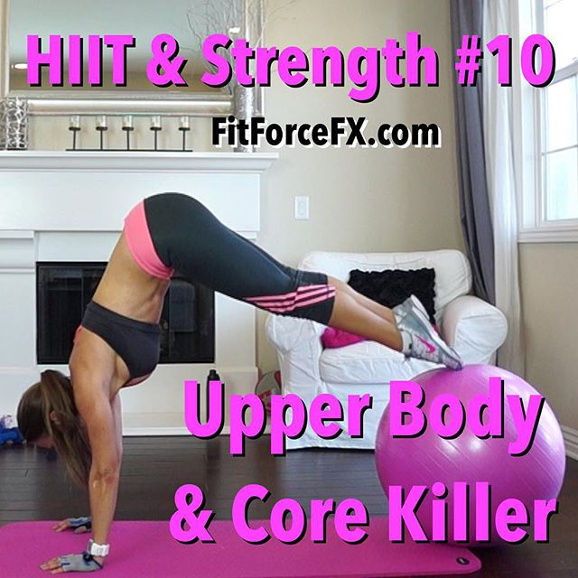 HIIT & Strength Workout No. 10 is up and it's an Upper Body & Core Killer! Because working the upper body and core doesn't typically burn as many calories as the lower body I like to incorporate compound movements and include the full body even when targeting the upper body. This workout begins with a fun HIIT segment of 40/30 intervals (no rest). Oh yeah! That's how we do things around here! Have fun!  Train. Nourish. Transform.  For free real-time workouts, fitness & nutritional tips also join me on YouTube (link in bio), Facebook, and Pinterest. Don't forget to stop and say 'hello' - I love hearing from you. 💪💦 Fit Wear: 👚@marika_clothing 👖@adidaswomen 👟@nikewomen  #fit #fitfam #fitmom #fitspo #fatburn #fitnessmotivation #fitness #fitnessmodel #getfit #fitnessaddict #fitspiration #fitgirl #instafitness #fitmom #fitmommy #fitlife #fitnessjourney #fitmotivation #wootd #Workout #weightloss #workoutvideo #hiit #kickboxing #cardio #strengthworkout #strongisthenewskinny #abburner #absworkout