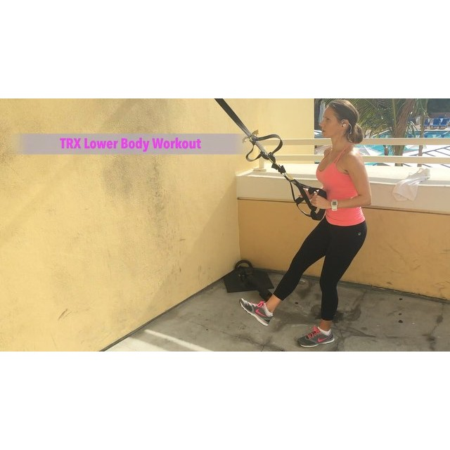 This workout is legs and butt sculpting gone wild! And your abs totally get in on the action too! Score! Your muscles will be on fire and sweat will be dripping!  TRX Lower Body Workout  12 single leg squats (L) 1 min squat jumps (second exercise demonstrated) 12 single leg squats (R) 1 min squat jumps 12 Bulgarian spit squats (L) 1 min squat jumps 12 Bulgarian split squats (R) 1 min squat jumps 12 crossed leg single leg squats (L) 1 min squat jumps 12 crossed leg single leg squats (R) 1 min squat jumps 12 floating leg single leg knee tuck (tuck leg that is in the strap) (L) 12 floating leg single leg knee tuck (tuck leg that is in the strap) (R) 1 min squat jumps 12 hamstring curl with fly 1 min squat jumps  1-2 minutes rest at end of circuit. Repeat circuit 1-4 times. Happy sweating!  Join me on YouTube (link in bio), Facebook, & Pinterest for workouts, fitness & nutrition tips, healthy recipes & meal planning.  Train. Nourish. Transform.  Fit Wear: 👚@climawear👖@fabletics 👟@Nike 💓@polarglobal  #fit #fitfam #fitmom #fitspo #fatburn #fitbody #fitmommy #fitness #fitness #fitnessmotivation #getfit #fitspiration #fitnessaddict #fitgirl #instafitness #fitlife #fitnessjourney #fitchicks #igfit #trx #trxtraining #hiit #stayfit #strongmom #bodyafterbaby #wootd #Workout #workoutvideo #weightloss #legworkout