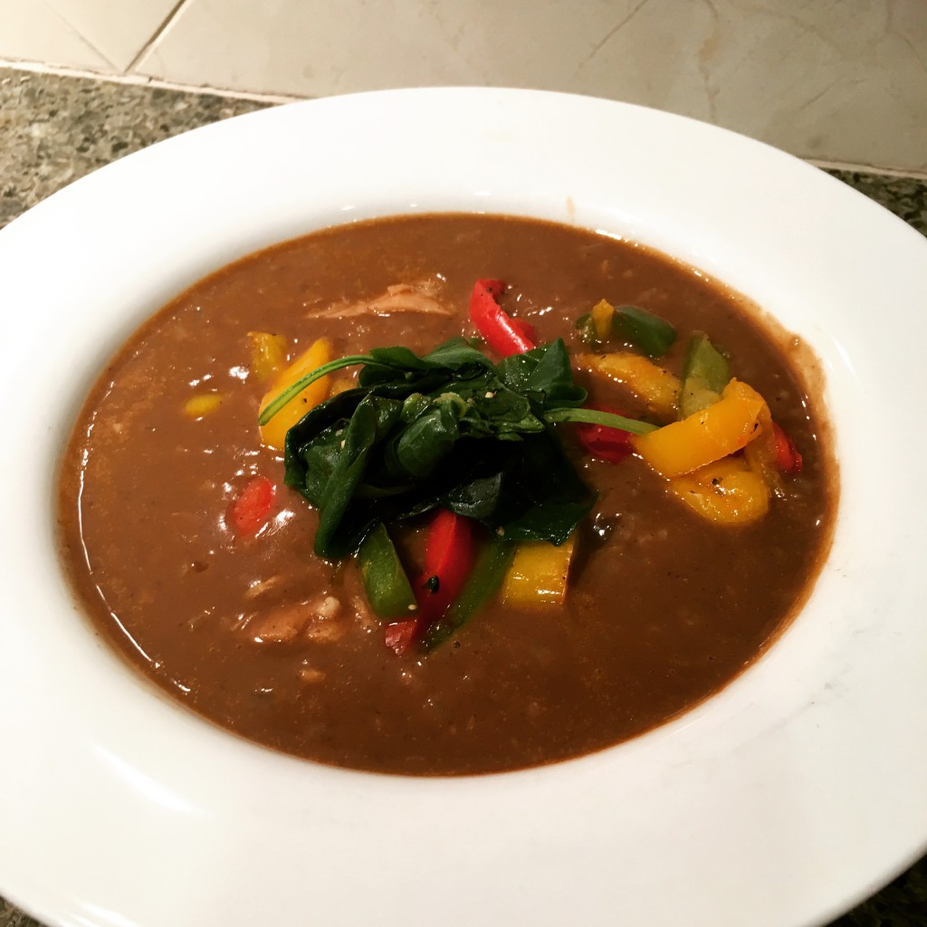 Roasted Tri-Color Peppers & Black Bean Soup | FitForceFX