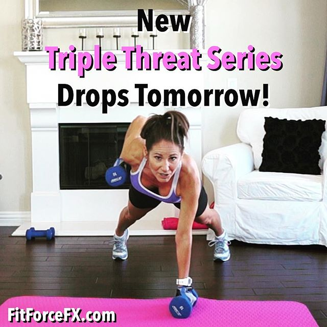 I've got a new fun and super effective workout series coming for you! The first workout drops tomorrow! Triple threat of Strength, Stability, & HIIT all rolled into one efficient workout. The trifecta that will define muscle and supercharge your fat burning and metabolism. Subscribe on YouTube so you don't miss a workout!  Train. Nourish. Transform.  Workouts, fitness & nutrition tips, healthy comfort food hacks & meal-planning. Join me on YouTube, Facebook, & Pinterest.  #fit #fitfam #fitmom #fitspo #fitbody #fitmommy #fitness #gettingfit #fitnessmotivation #getfit #fitgirl #fitnessaddict #fitlife #fitnessjourney #fitspiration #fitnessfreak #wod #wootd #Workout #weightloss #weightlossjourney #hiit #FitForceFX #bodyafterbaby #freeworkout