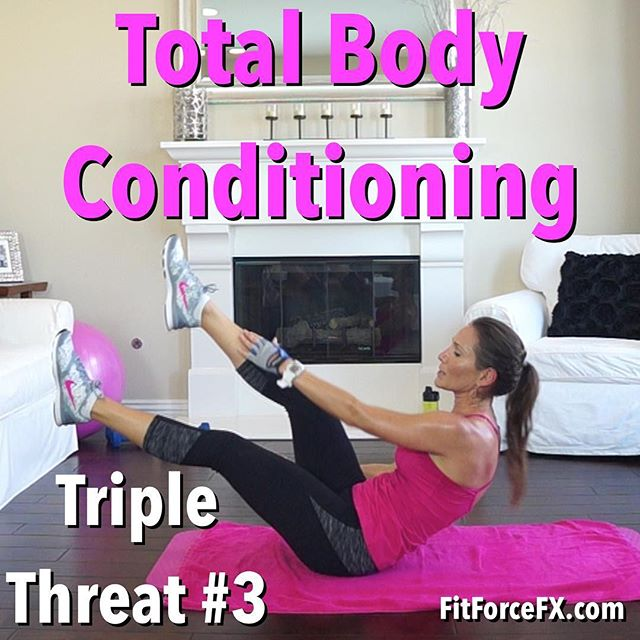 Get ready to burn fat and carve out muscle definition with this total body conditioning workout! Now on my YouTube channel (link in bio). Follow along with the Fitness As A Lifestyle Challenges given in my Fit Hits videos, to incorporate healthy diet and lifestyle habits to really hit your goals even faster.  Be sure to stop and say