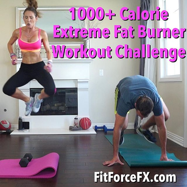 Hi guys! This insane workout is a fun Subscriber Thank You for 1700 subscribers! Thank you for subscribing and supporting FitForceFX. You all are so awesome and I'm so honored to be training with you! I hope you like this KILLER workout! Special thank you to my husband who did it with me. He survived...but is still hating stairs 3 days later. xo ~J  Train. Nourish. Transform.  Workouts, fitness & nutrition tips, & healthy comfort food hack recipes. Join me on YouTube (link in bio), Facebook, Twitter & Pinterest.  #workoutchallenge #sweatfest