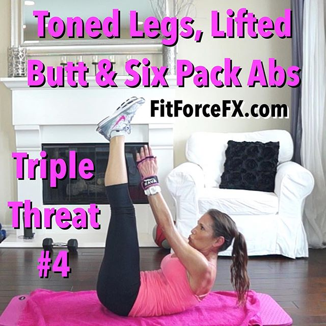 This fun effective workout will tone and define your legs, buttocks, and abdominals, burn fat and boost your metabolism! 🌟 Now up on my YouTube Channel (link in bio). Train. Nourish. Transform.  #tonedbooty #sixpack #TeamFitForceFX #SweatWithJ
