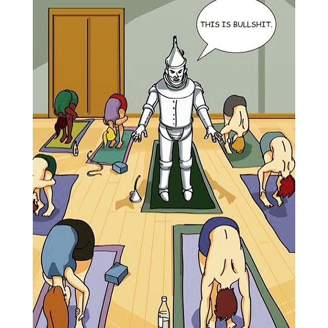When trying something new, do you ever feel like the tin man doing yoga? Me too. Remember, even the expert was once a beginner. Just do it, even if you suck at first. 👊  Workouts, fitness & nutrition, & healthy comfort food recipes.  Train. Nourish. Transform.  #justdoit #transformationtuesday #positivity #yogalove #yogaisforeverybody