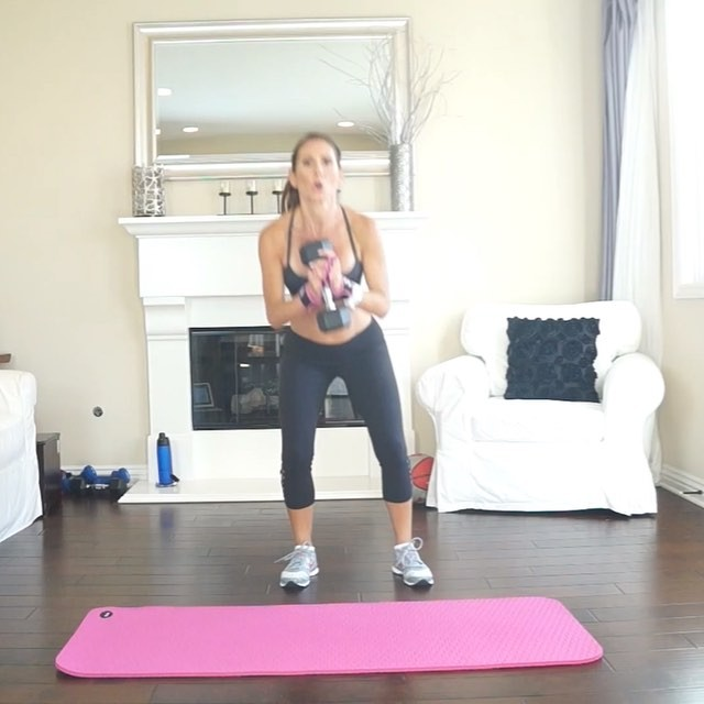 Legs! Legs! Booty & Core! This fun HIIT circuit will tone 'em right up and burn fat too! You can do this with or without weight.  Do 4 rounds of 50 seconds work, 10 seconds rest. Or do 15 mins AMRAP (as many rounds as possible) 15 reps per exercise. Be sure to switch sides each round. 💕Tag your workout partner! 💕 🌟 Jump squat, pendulum squat 🌟 Single arm jump tuck Burpee 🌟 Curtsey lunge with kick 🌟 Bombshell get-up  Workouts, Fitness & nutrition tips, healthy comfort food recipes! Join me on YouTube (link in bio), Facebook, Twitter, & Pinterest.  Train. Nourish. Transform.  #goals #SweatWithJ #wod