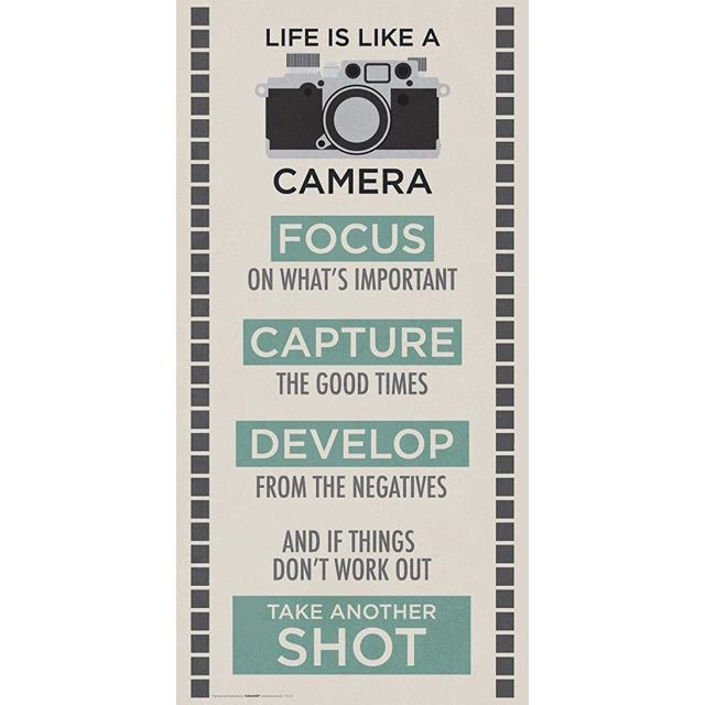 FOCUS, CAPTURE, DEVELOP, SHOOT! It's so easy to get distracted by the overwhelming amount of background noise and the minutiae of daily life. Focus on what is important, recognize & appreciate the good, learn from mistakes, and always take a shot. Have a beautiful day, everyone! 😘 -J  Train. Nourish. Transform.  #SweatWithJ #TeamFitForceFX #quoteoftheday